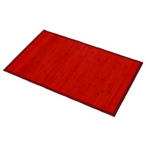 "Bamboo Rug Bathroom Mat Anti Slippery 31.5""L x 20""W RED"