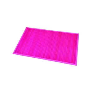"Bamboo Rug Bathroom Mat Anti Slippery 31.5""L x 20""W FUCHSIA"