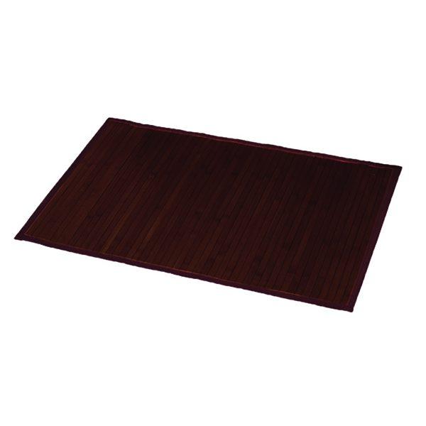 "Bamboo Rug Bathroom Mat Anti Slippery 31.5""L x 20""W BROWN"