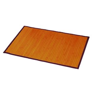 "Bamboo Rug Bathroom Mat Anti Slippery 31.5""L x 20""W LIGHT BROWN"