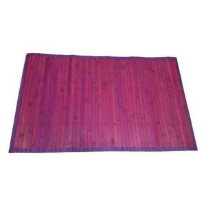 Bamboo Rug Bathroom Mat Anti Slippery 31.5'' L x 20'' W PURPLE