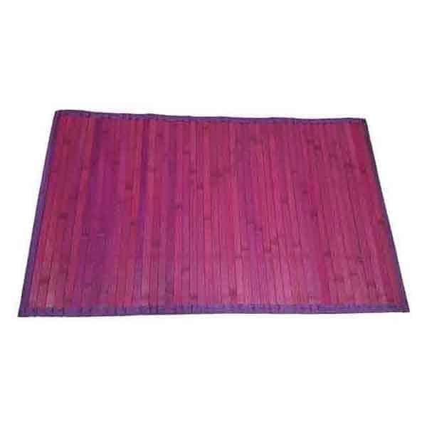 Bamboo Rug Bathroom Mat Anti Slippery 31.5'' L x 20'' W PURPLE