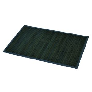 "Bamboo Rug Bathroom Mat Anti Slippery 31.5""L x 20""W GRAY- OLD GREEN"
