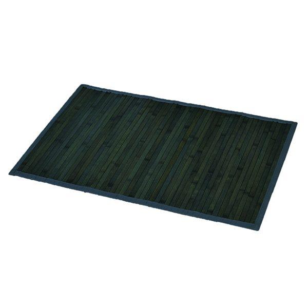 "Bamboo Rug Bathroom Mat Anti Slippery 31.5""L x 20""W GRAY- OLD GREEN"
