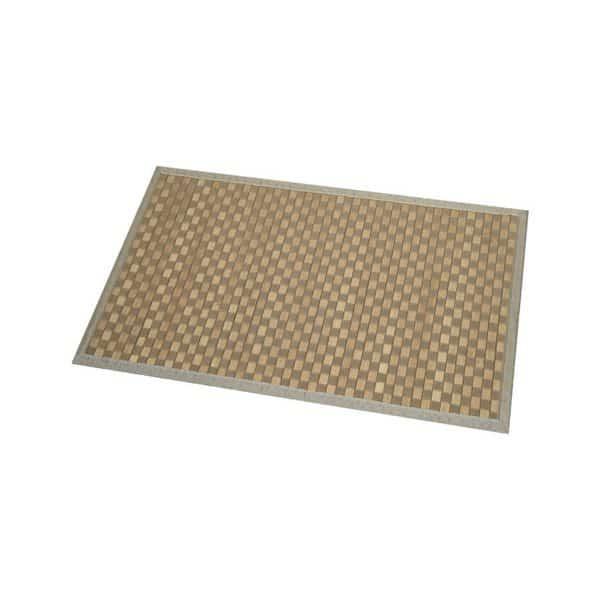Bathroom Mat Bamboo Rug In Cross Twill Rug Checkerboard Light Brown