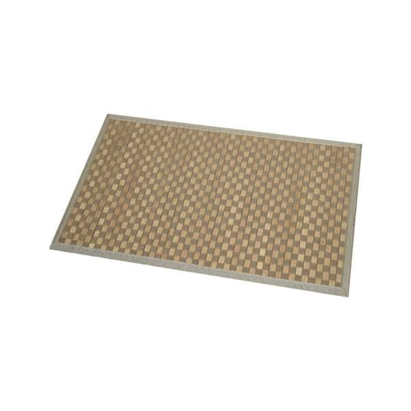 Evideco Bathroom Mat Bamboo Rug In Cross Twill Rug