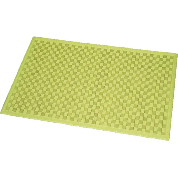 Lime Green Contour Rug: Evideco Bathroom Mat Bamboo Rug In Cross Twill Rug