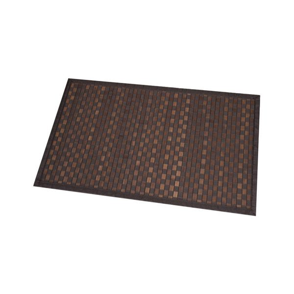 Bathroom Mat Bamboo Rug In Cross Twill Rug Checkerboard Brown