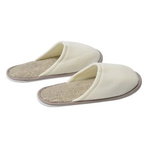 Men's Slippers Polyester/Ramie Spa Wellness with EVA Shoe Sole Cream/Taupe