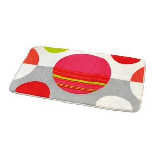 Printed Microfiber Bath Rug Eclats Multicolor 17W X 29.5L