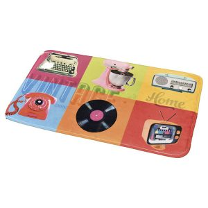 Printed Microfiber Mat Bath Rug VINTAGE HOME multicolored 17 W x 29.5 L