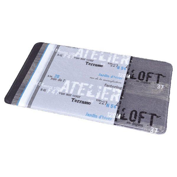 Printed Microfiber Mat Bath Rug ATELIER LOFT 17Wx29.5L