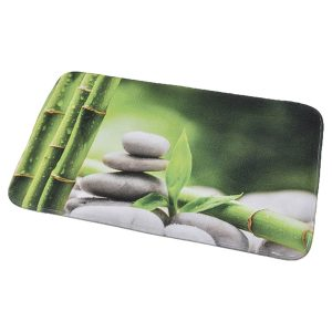 Printed Microfiber Mat Bath Rug 17 W x 29.5 Zen and Co