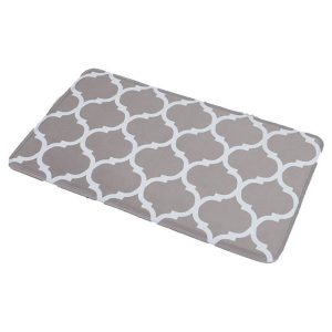 Collection Escal Printed Microfiber Mat Bathroom Rug