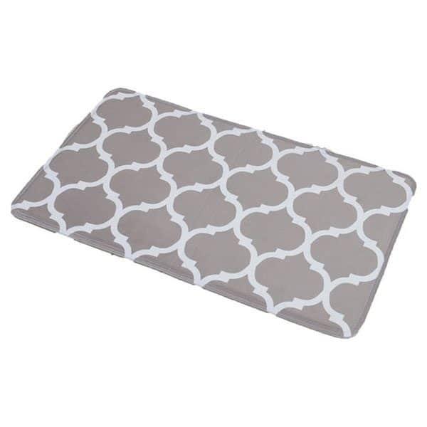 Collection Escal Printed Microfiber Mat Bathroom Rug