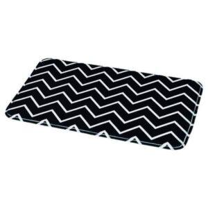 Collection Zigzag Printed Microfiber Mat Bathroom Rug