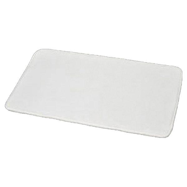 "Microfiber Non Skid Bath Mat Rug Rectangular 29.5""L x 17""W White"