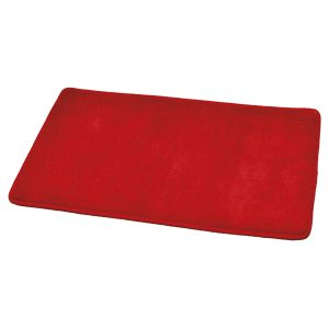 "Microfiber Non Skid Bath Mat Rug Rectangular 29.5""L x 17""W Red"