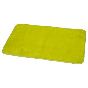 "Microfiber Non Skid Bath Mat Rug Rectangular 29.5""L x 17""W Lime Green"