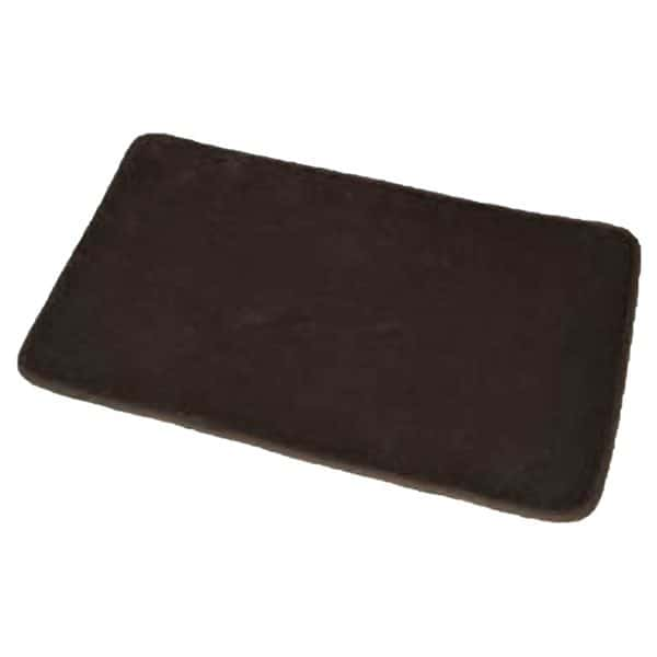 "Microfiber Non Skid Bath Mat Rug Rectangular 29.5""L x 17""W Brown"