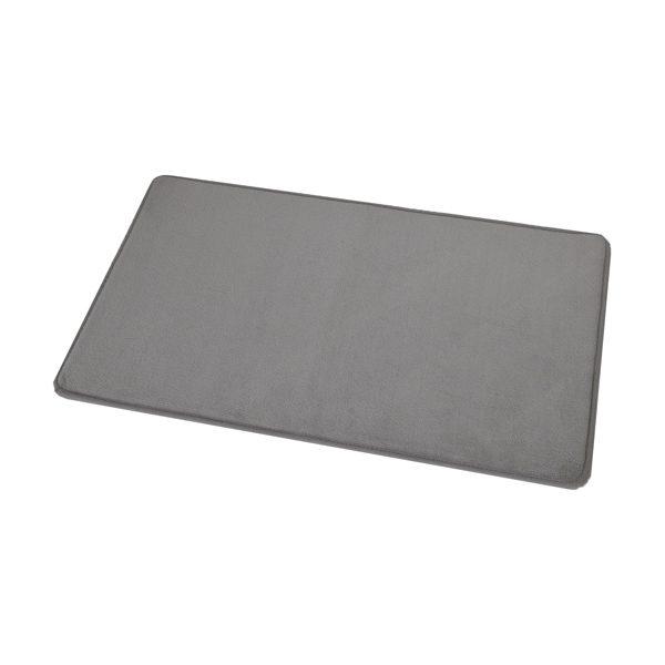 "Microfiber Non Skid Bath Mat Rug Rectangular 29.5""L x 17""W Taupe"