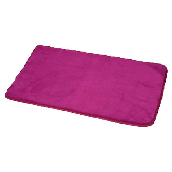 "Microfiber Non Skid Bath Mat Rug Rectangular 29.5""L x 17""W Purple"