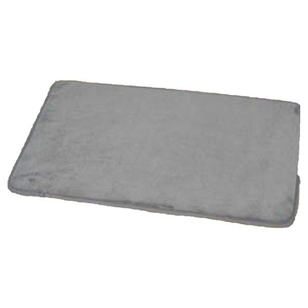 "Microfiber Non Skid Bath Mat Rug Rectangular 29.5""L x 17""W Gray"