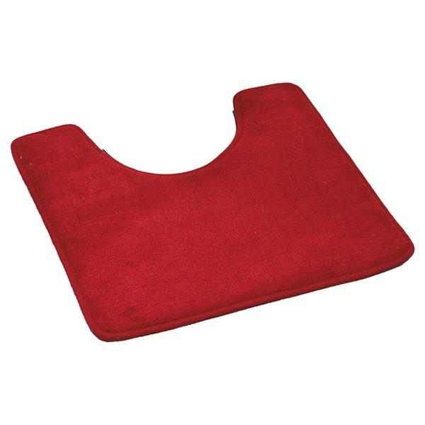"Microfiber Toilet Contour Mat Rug Non Skid 20""L X 20""W Red"