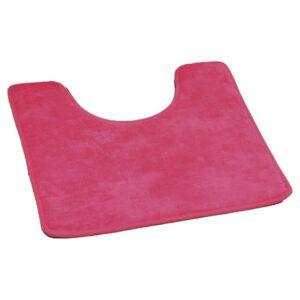 "Microfiber Toilet Contour Mat Rug Non Skid 20""L X 20""W Pink Fuchsia"
