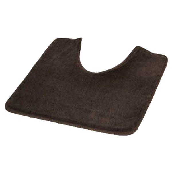 "Microfiber Toilet Contour Mat Rug Non Skid 20""L X 20""W Brown"