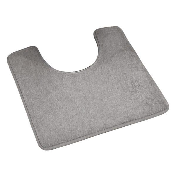 "Microfiber Toilet Contour Mat Rug Non Skid 20""L X 20""W Taupe"