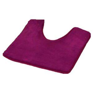"""Microfiber Toilet Contour Mat Rug Non Skid 20""""L X 20""""W Purple"""