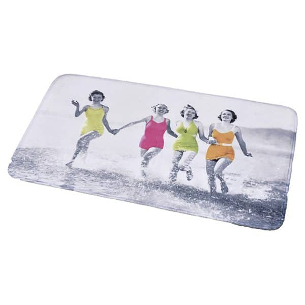 "Printed Microfiber Area Rug Mat Bathroom Rug Women on the Beach Gray 35.4""L x 23.6""W"
