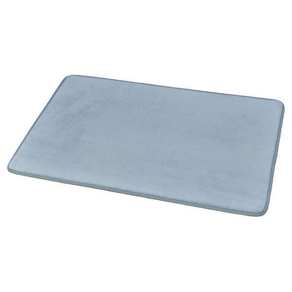 Ultra Soft Highlights Microfiber Area Rug Polyester Mat Bathroom Rug 31.5''L x 20''W Blue