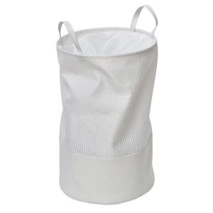 Pop-Up Collapsible Laundry Hamper with Closing Mesh White