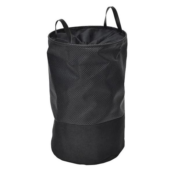 Pop-Up Collapsible Laundry Hamper with Closing Mesh Black