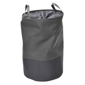 Pop-Up Collapsible Laundry Hamper with Closing Mesh Grey