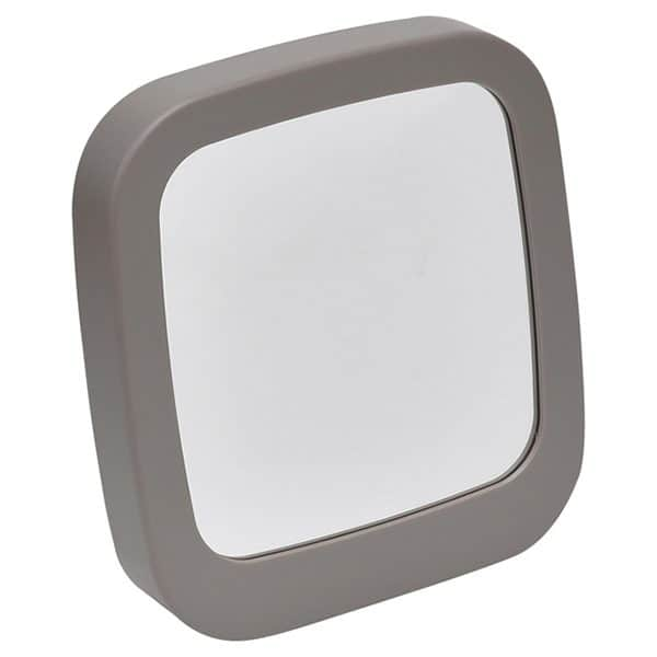 Make Up Self Standing Vanity Square Mirror Bathroom Countertop Taupe