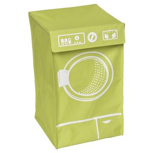 Laundry Hamper Bag Basket Clothing Organizer WASHING MACHINE with Top Flap - Polyester and Fiberglass