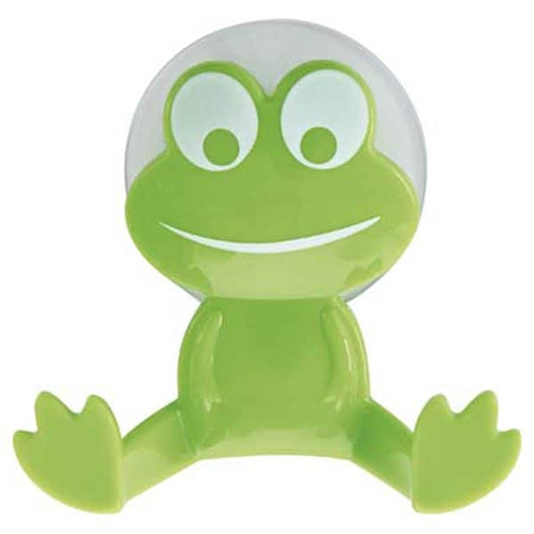 Kids Frog Wall Hook On Suction Pad Green
