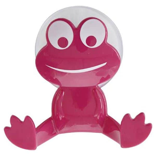 Kids Frog Wall Hook On Suction Pad Pink