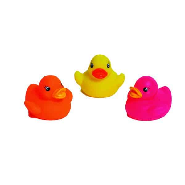 Set of 3 Non-Toxic Floating Bath Toys - Squeaky Ducks -for Babies and Toddlers