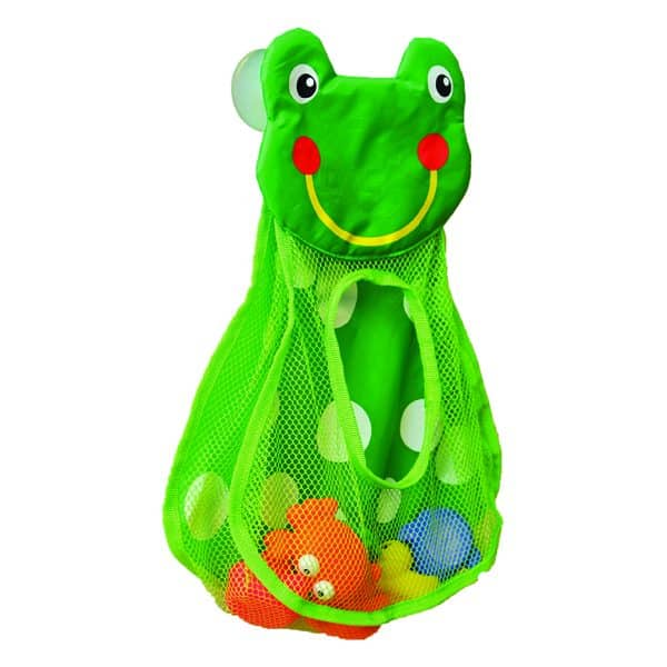 Green Bath Tub Toys Organizer Frog Head On 2 Strong Suction Mounted