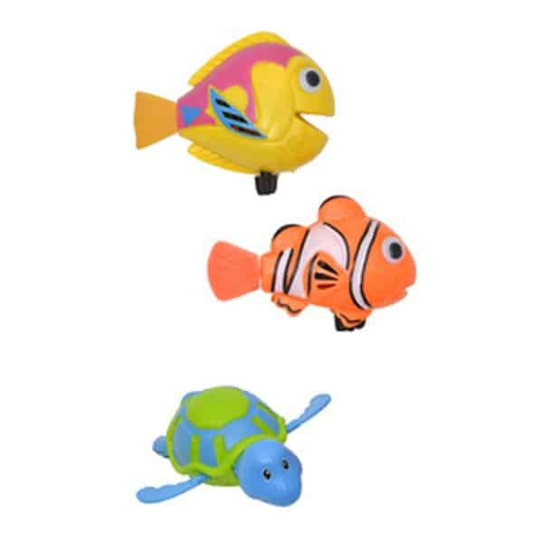 2-Piece Set Funny Wind Up Swimmers Clown Fish Bathtub Baby Toy