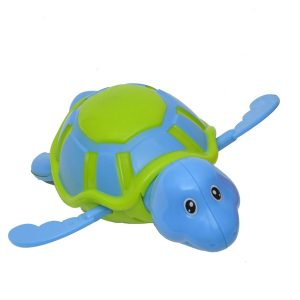 Funny Wind Up Swimmer Turtle Bathtub Baby Toy Blue Green