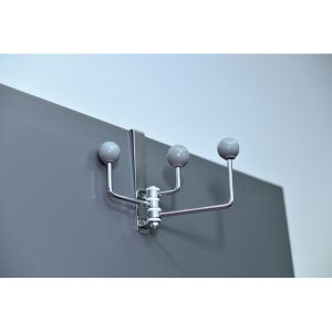 Over-The-Door Metal Swivel Hook Color: Gray