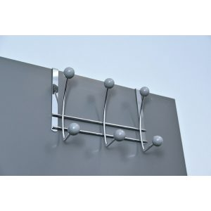 Over-the-Door 6-Hook Rack Color: Gray