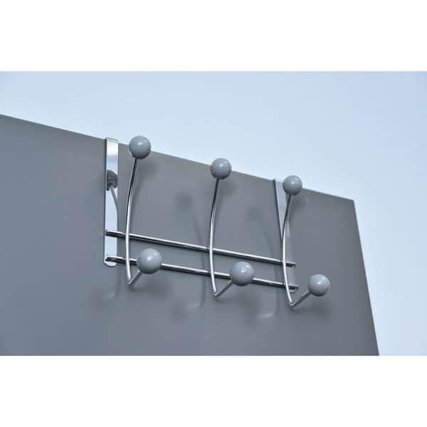 Over-the-Door 6-Hook Rack Color: Gray