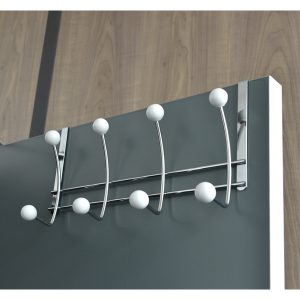 Over-The-Door 8-Hook Rack Color: White