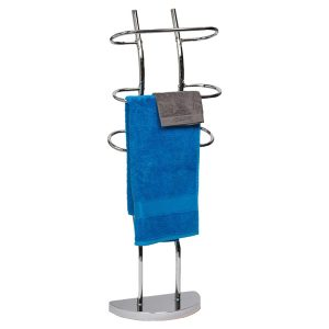 Towel Valet 3 Curved Bars Metal Chrome Plated